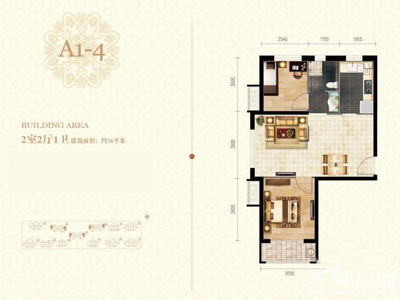 二期高层标准层A1-4-01户型