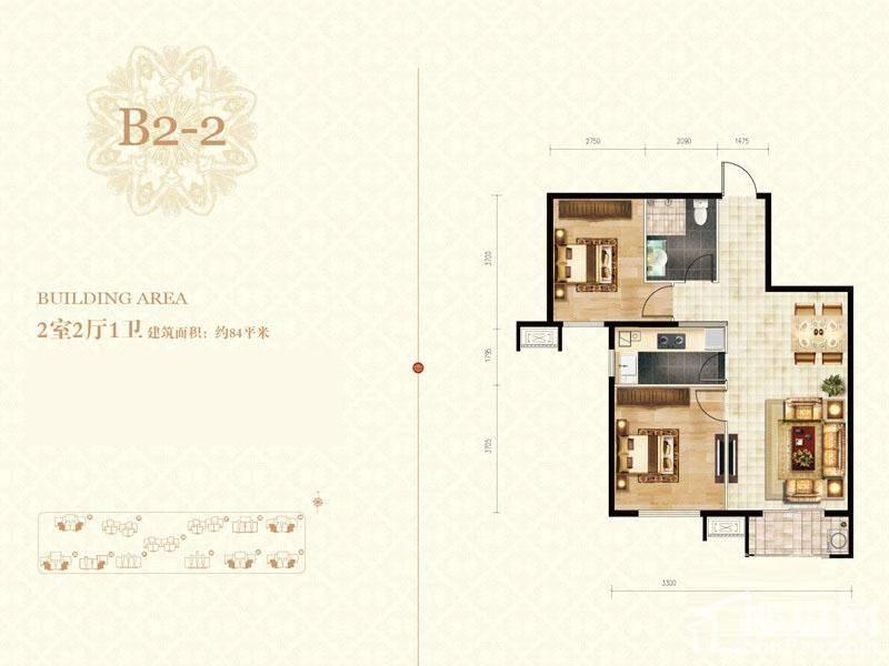二期高层标准层b2-2-01户型