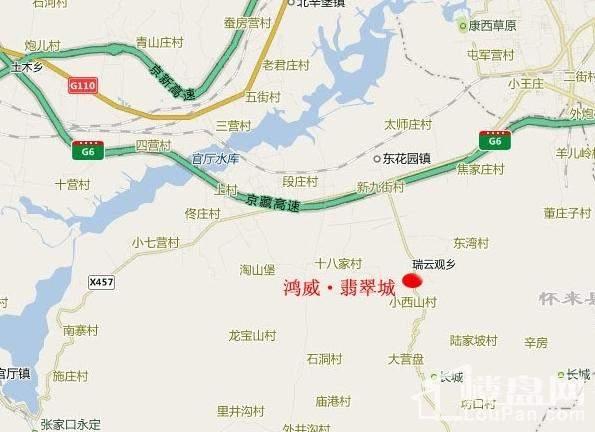 鸿威·翡翠城位置图