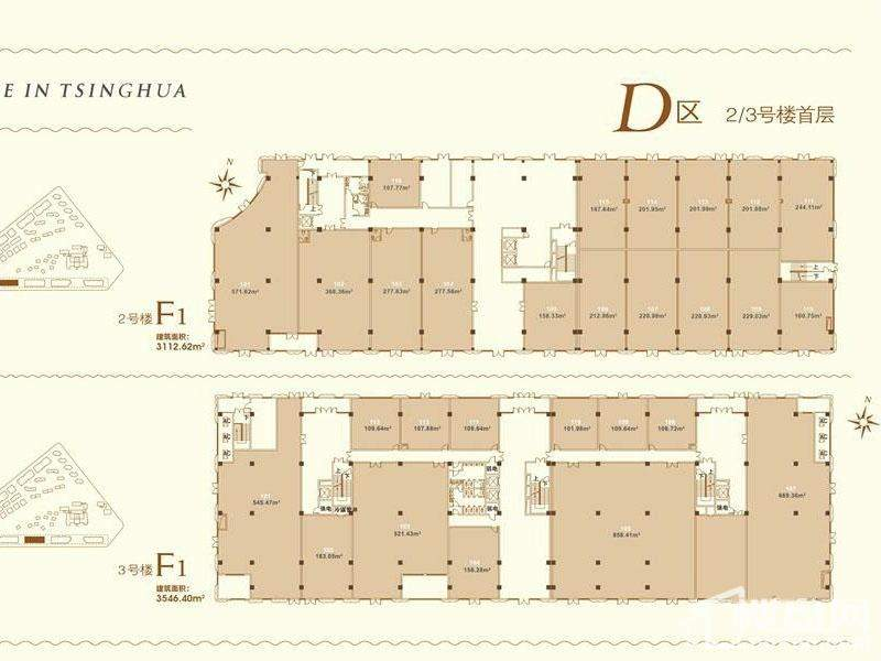 D区2、3号楼首层平面示意图