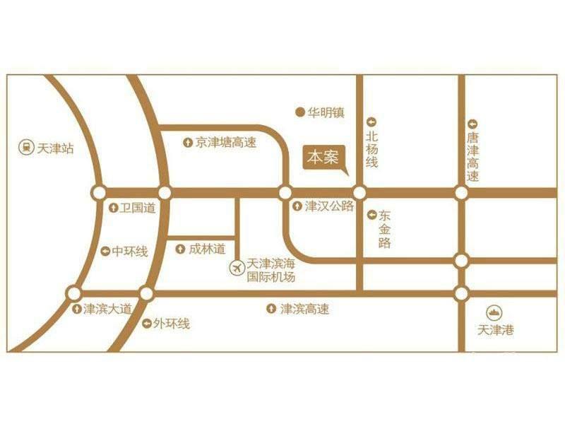 科创慧谷天津园区位置图