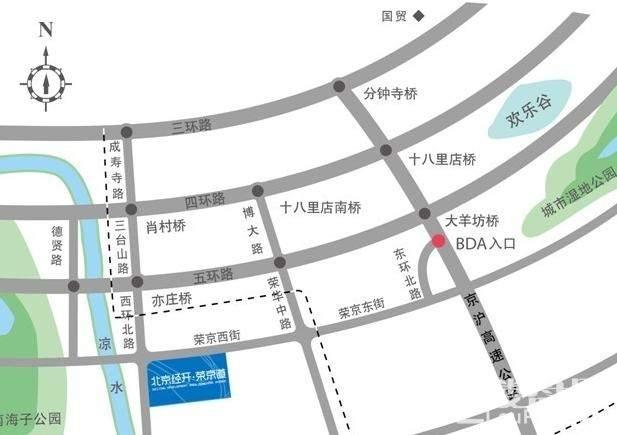 北京经开荣京道位置图