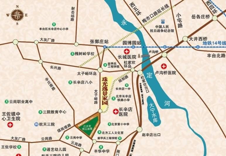 珠光逸景家园(限价房)位置图