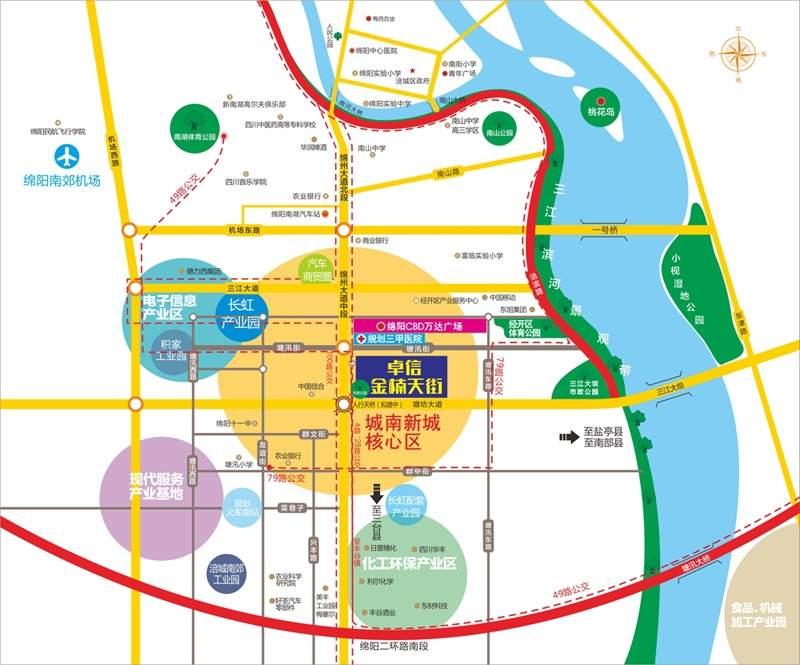 卓信金楠天街商铺位置图