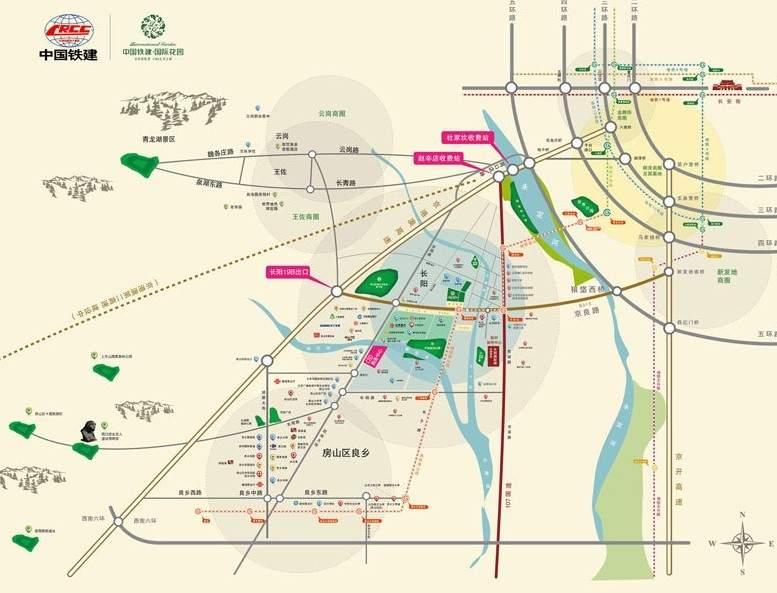 中国铁建国际花园位置图