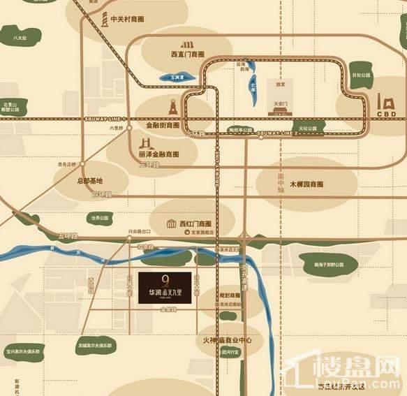 华润公元九里位置图