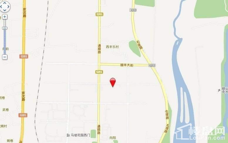 鲁能7号院位置图