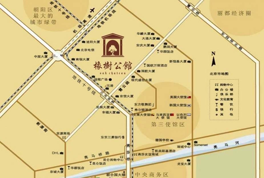 橡树公馆位置图