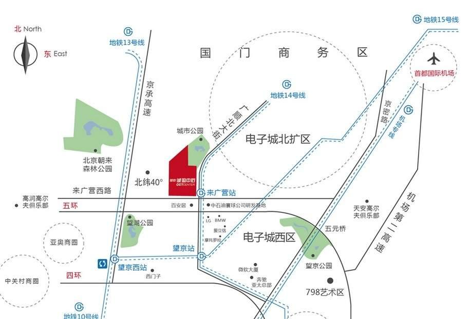 望京诚盈中心位置图