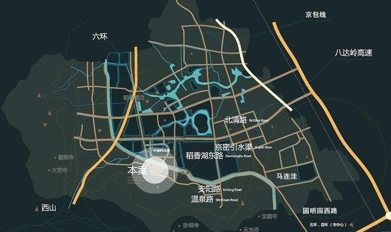 北辰香麓位置图