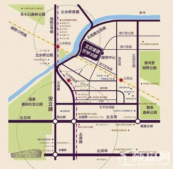 北京城建世华泊郡位置图