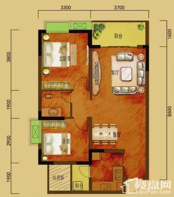 二期5号楼标准层1、6号房