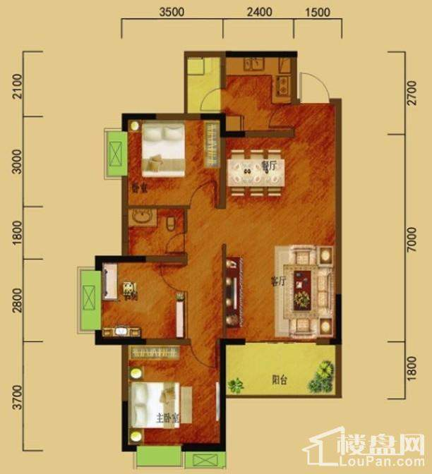 二期5号楼标准层3、4号房