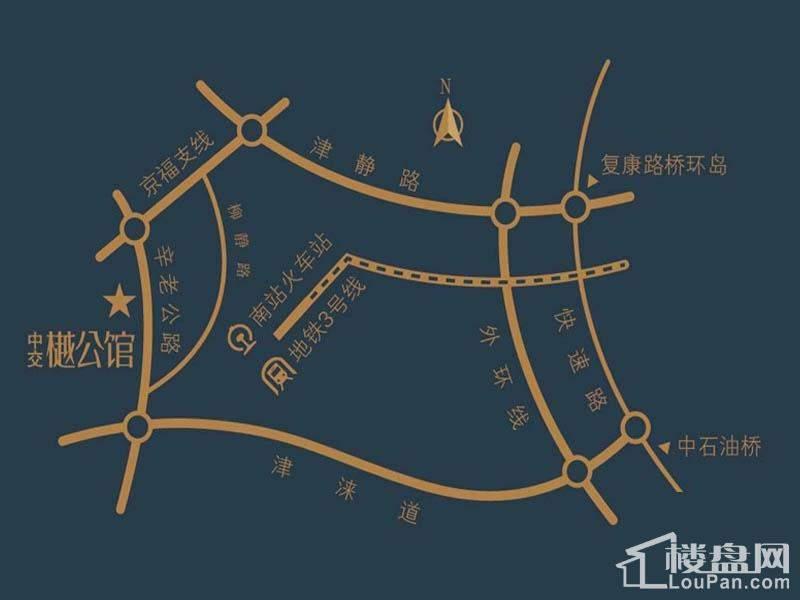 中交樾公馆位置图