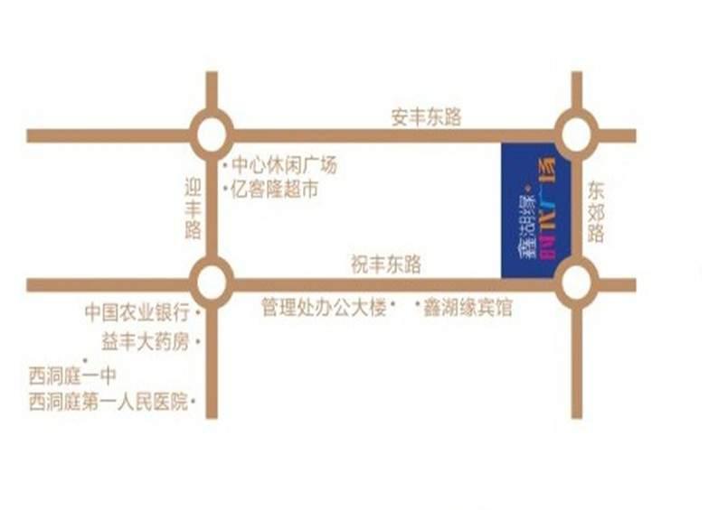 鑫湖缘·时代广场位置图