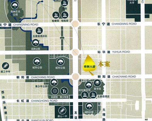 梧桐大道位置图