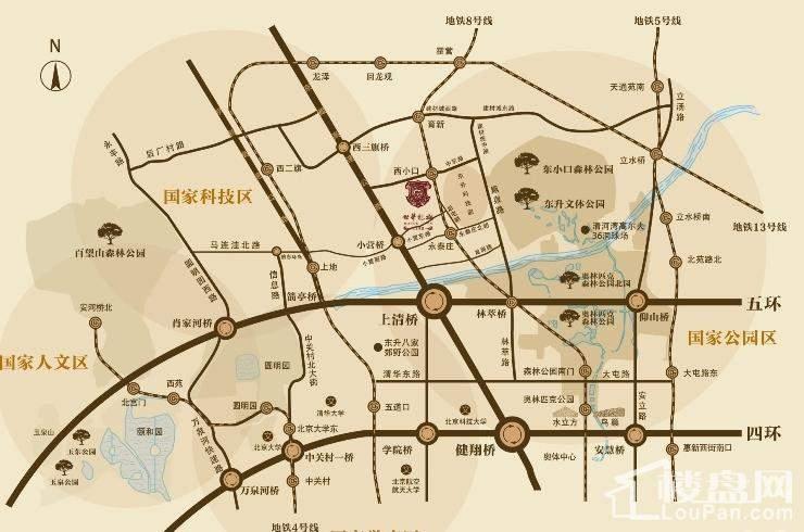 北京城建·世华龙樾位置图
