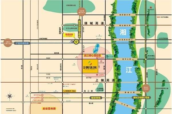 佰利•奥体城位置图
