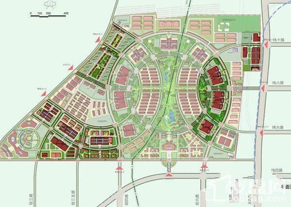 兰州新区综合市场位置图