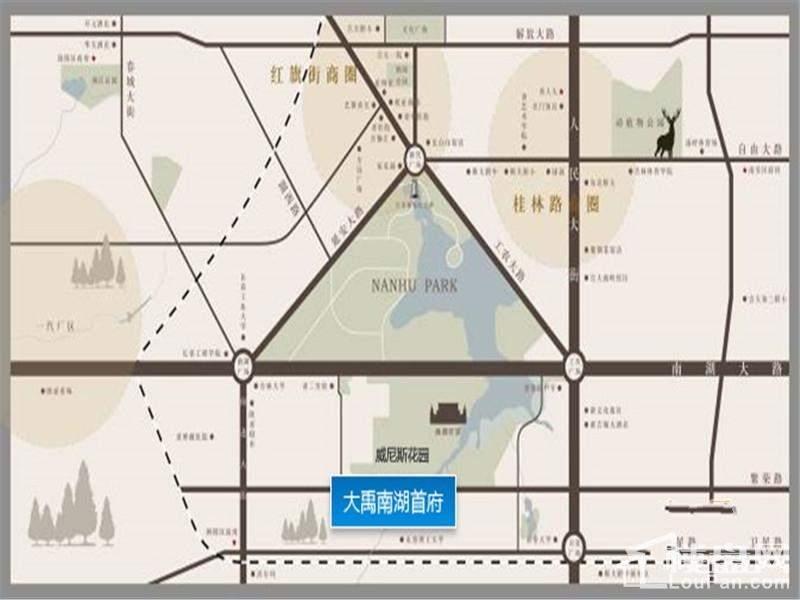 大禹南湖首府位置图