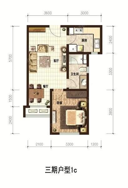 金泰城三期A5户型图