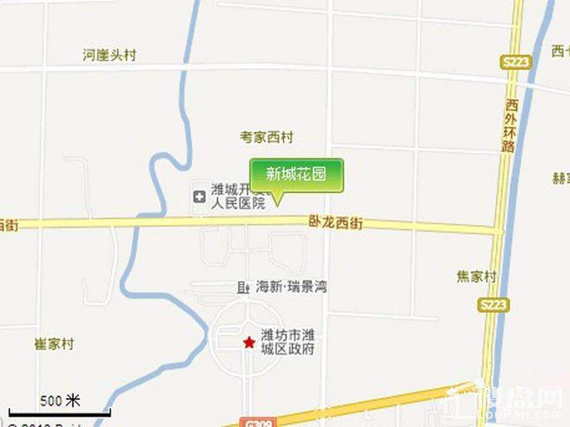 新城花园位置图