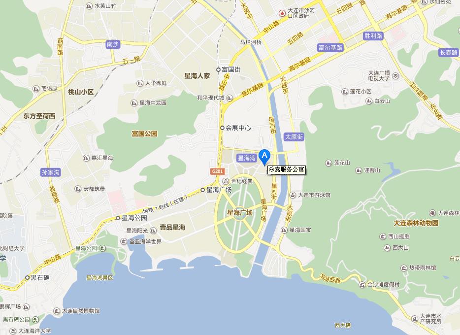 乐嘉服务公寓位置图