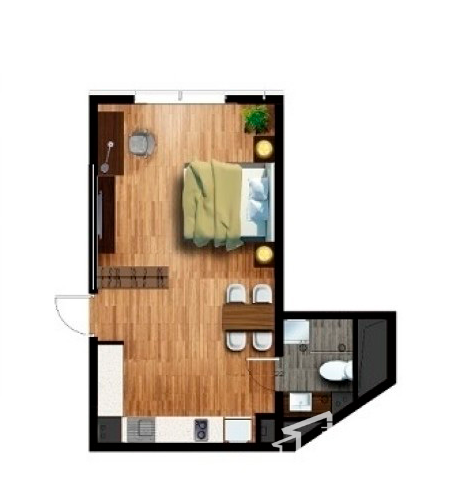 乐嘉服务公寓户型图
