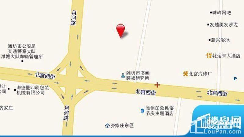 圣基金碧广场交通区位图