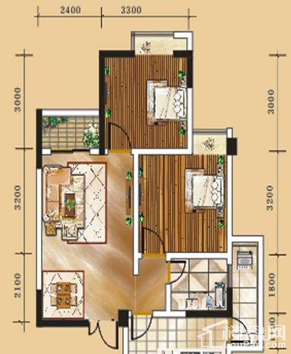 二期1号楼标准层5号房户型
