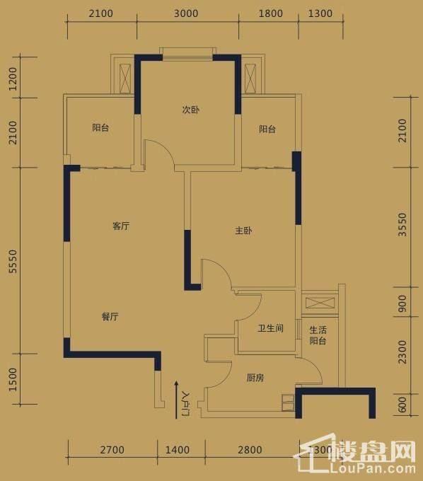 黛瑰苑9/10号楼标准层4号房