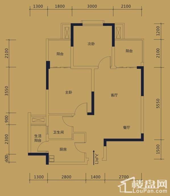 黛瑰苑9/10号楼标准层5号房