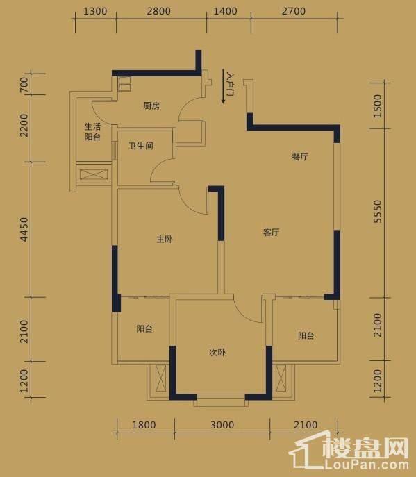 黛瑰苑9/10号楼标准层8号房