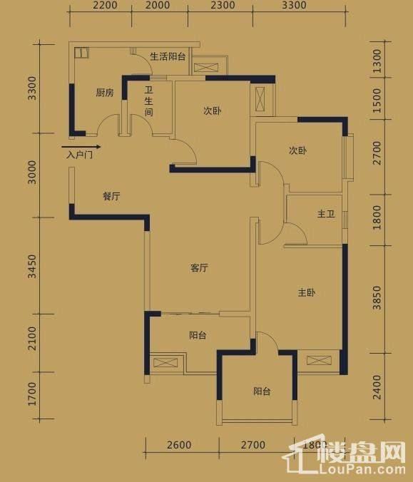 黛瑰苑9/10号楼标准层2号房