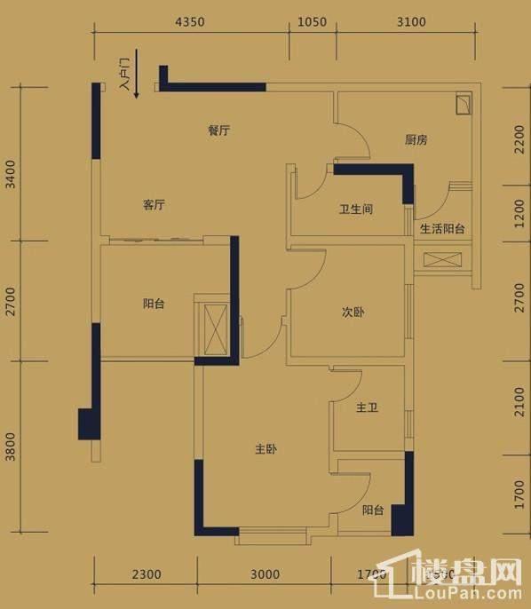 黛瑰苑9/10号楼标准层1/8号房