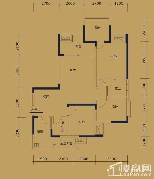 黛瑰苑9/10号楼标准层6号