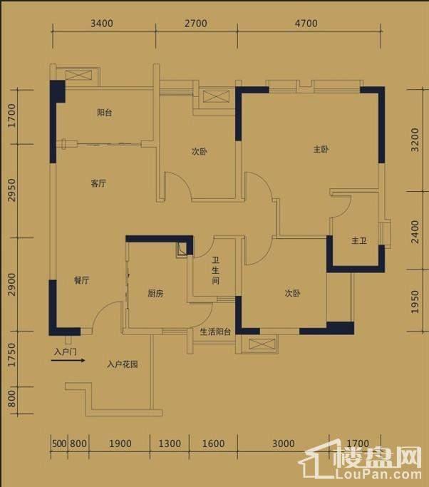 黛瑰苑9/10号楼标准层6/7号房
