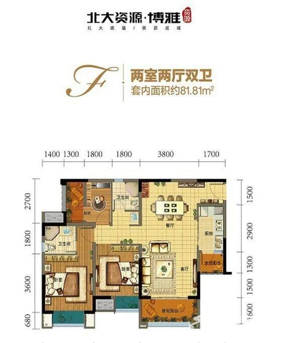 一期高层8号楼标准层F户型