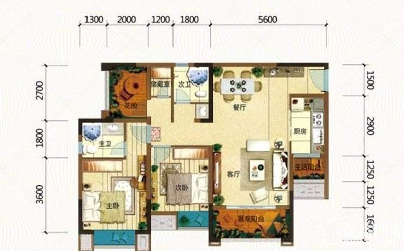 一期高层所有楼栋标准层C户型