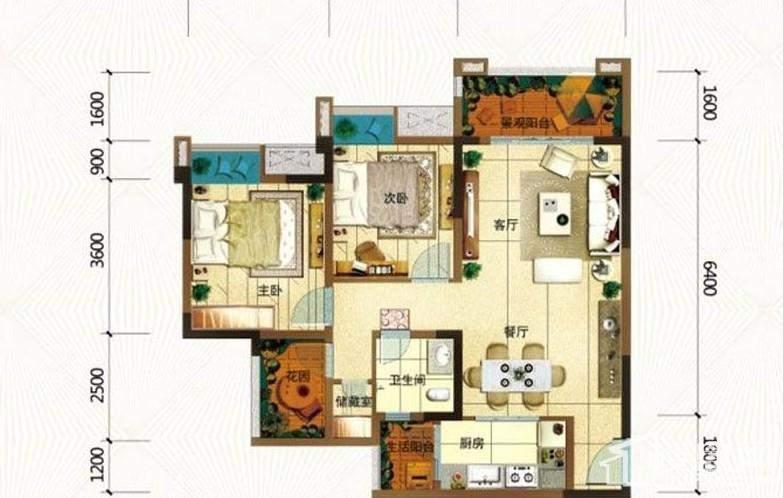 一期高层所有楼栋标准层B户型
