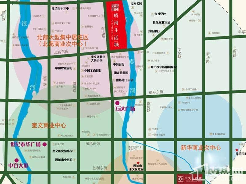 虞河生活城交通区位图
