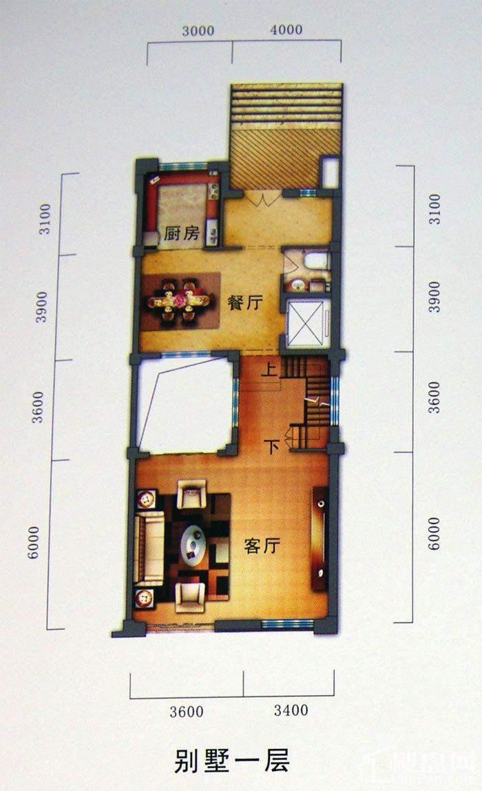 别墅户型一层