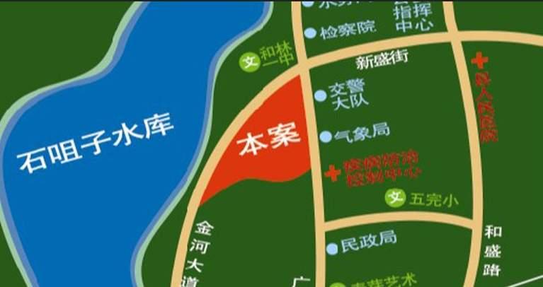 水岸国际位置图
