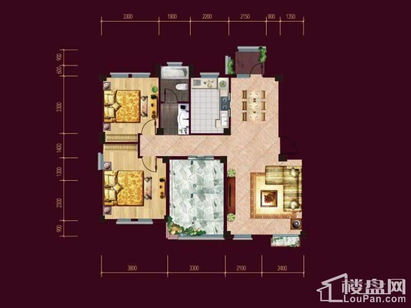 F1/2五层花园洋房户型