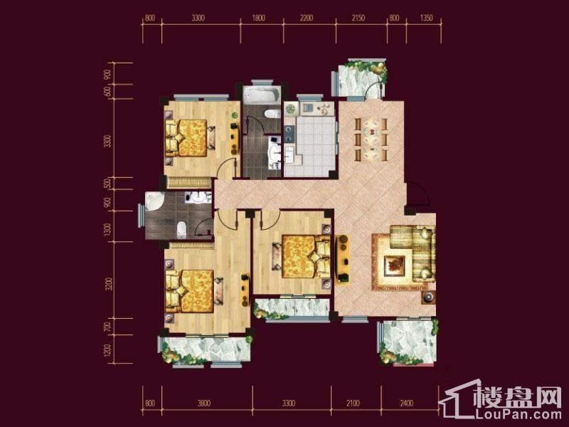 F1/2二层花园洋房户型