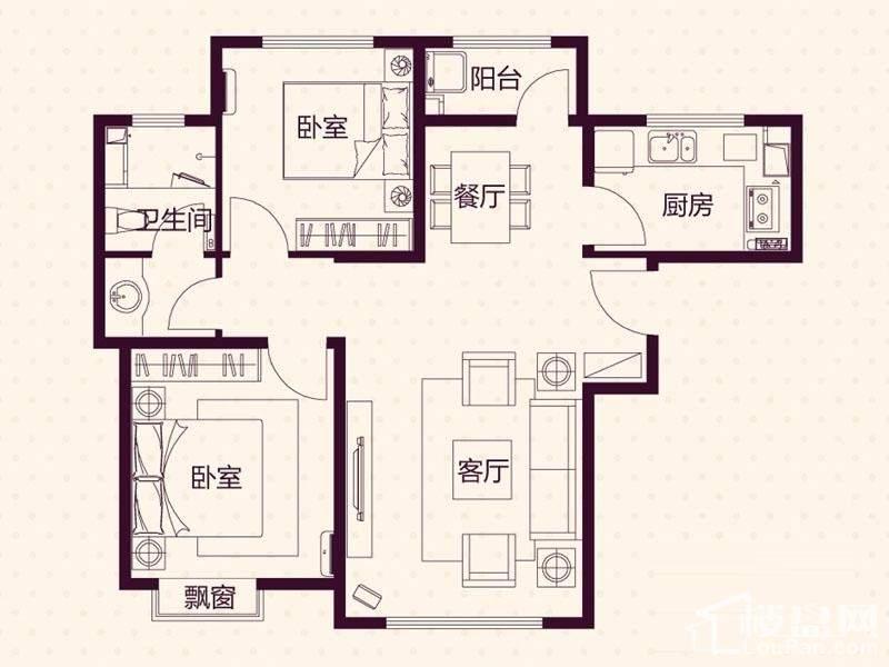 11、18层高层A户型户型图