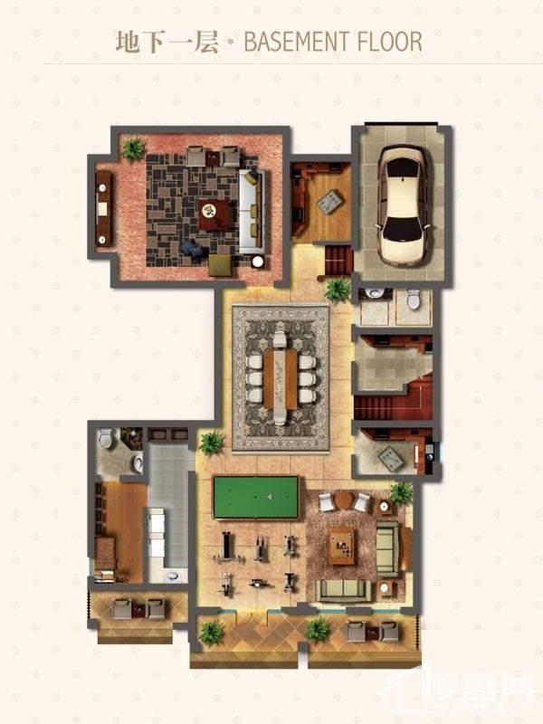 独栋别墅DN1户型地下