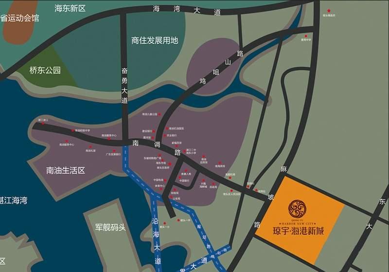 海港新城位置图