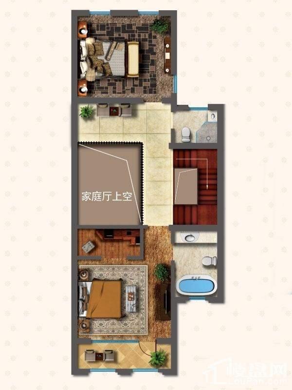 联排别墅LNC1户型二层户型图