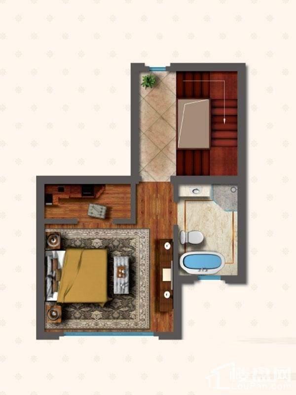 联排别墅LNC1户型三层户型图